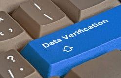 Key for data verification. Keyboard with key for data verification stock image