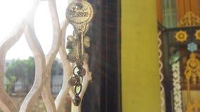 Key daylight iron mandoor wall Stock Image
