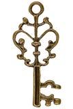 Key, decorative element, isolated on white background Royalty Free Stock Photos