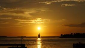 key den västra solnedgången Arkivfoton