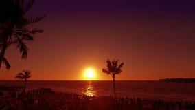 key den västra solnedgången lager videofilmer