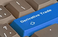 Key for derivative trade stock images