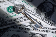 Key on dollar money Stock Image