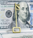 A key with a dollar-sign implemented Stock Photo