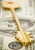 Key on dollars royalty free stock photo