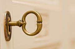 Key in the door. Of wardrobe Stock Image