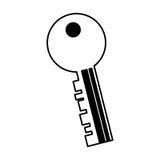 Key door isolated icon Royalty Free Stock Photo