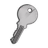 Key door isolated icon Royalty Free Stock Image