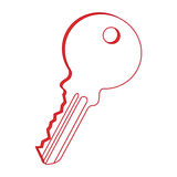 Key door isolated icon Stock Images