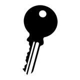 Key door isolated icon Royalty Free Stock Photos