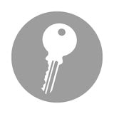 Key door isolated icon Royalty Free Stock Photography