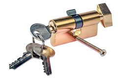 Key and door lock Stock Images