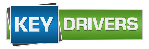 Key Drivers Blue Green Horizontal Stock Images
