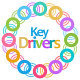 Key Drivers Colorful Circular Background Royalty Free Stock Photography