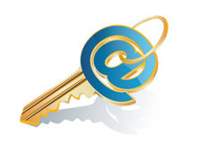 Key from an e-mail Royalty Free Stock Photos