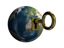 Key from earth Royalty Free Stock Photos