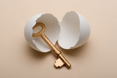 Key in egg Royalty Free Stock Photo