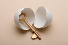 Key in egg Royalty Free Stock Photo