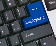 Key for employment Royalty Free Stock Image