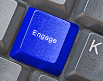 Key for engagement. Keyboard with key for engagement stock image