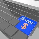Key enter Stock Image