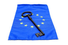 Key euro flag Stock Images