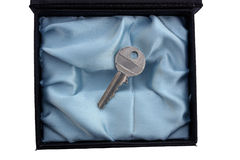 Key. Exclusive key in the elegance box Royalty Free Stock Image