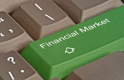 Key for financial market royalty free stock image