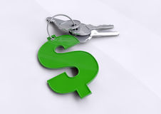 Key financial success, opening doors to your future and the ability to earn money US Dollars Royalty Free Stock Images