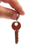 Key on finger Stock Image
