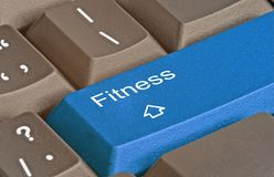 Key for  fitness Royalty Free Stock Photography