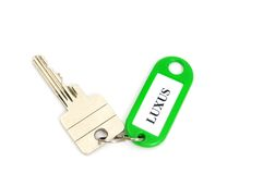 Key fob. In a studio shot, LUXUS meand luxury Royalty Free Stock Images