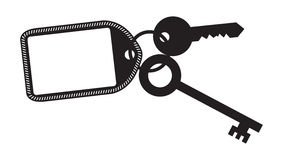 Key and Fob Silhouette Royalty Free Stock Photography