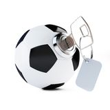 Key football, soccer ball Stock Photo
