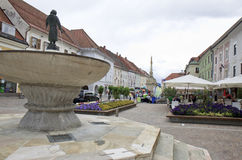Key Fountain in Sankt Veit an der Glan, Austria Stock Images