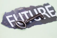 Key with Future Royalty Free Stock Image