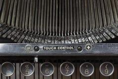 key gammal skrivmaskin för closeup Arkivfoton