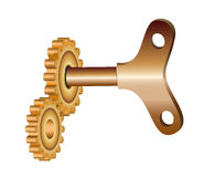Key and gear Royalty Free Stock Image