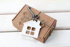 Key gift house Royalty Free Stock Photos