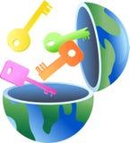 Key globe stock illustration