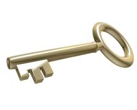 Key in gold (3d) Stock Image