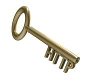 Key in gold with HTTP text (3d) Royalty Free Stock Photos