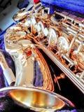 Key Golden Saxophone Stock Photography