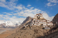 Key Gompa Monastery Clouds Sunrise Stock Images