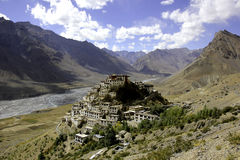 Key Gompa in the Sun Royalty Free Stock Photo