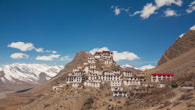 Key Gompa Time Lapse Clouds stock video