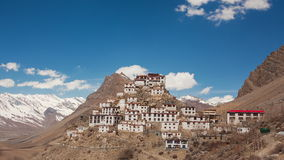 Key Gompa Time Lapse Clouds Zoom Back stock footage