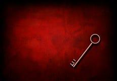 Key on grunge Red Stock Photo