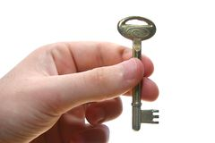 Key in a hand. Stock Photography