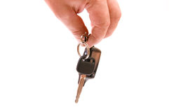 Key in a hand Royalty Free Stock Photos